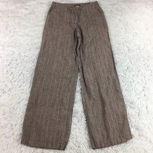 Tommy Bahama Wide Leg Linen Pants Brown Size 2